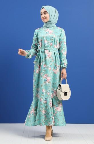 فستان أخضر 4650-02