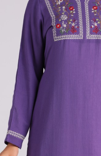 Lila Hijap Kleider 6000-04