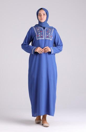 Robe Hijab Blue roi 6000-06