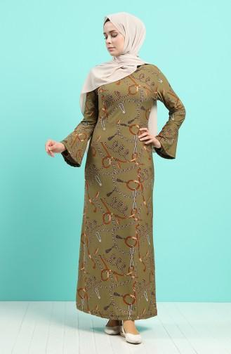 İspanyol Kol Elbise 4331F-01 Haki Yeşil
