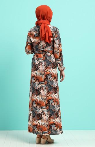 Pattern Belted Dress 0380-04 Tobacco 0380-04