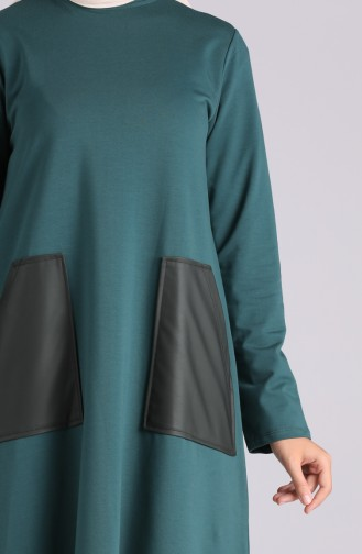 Robe Hijab Vert emeraude 0410-01