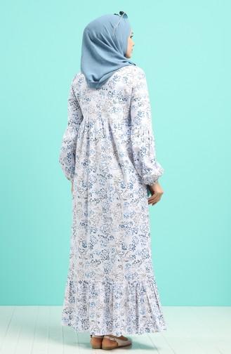 Robe Hijab Bleu Marine 1405-01