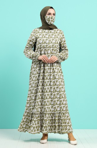 Grün Hijap Kleider 1406-03