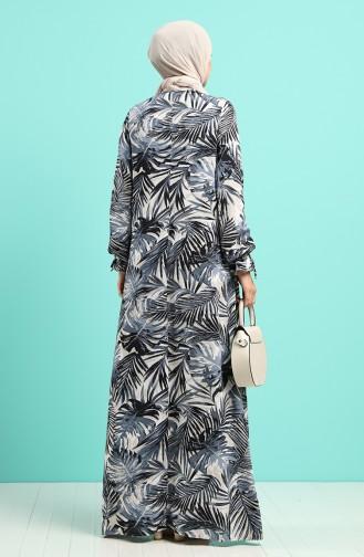فستان رمادي 8000-07