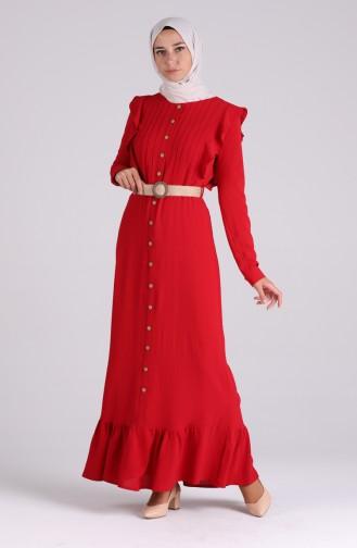 Rot Hijap Kleider 5017-09