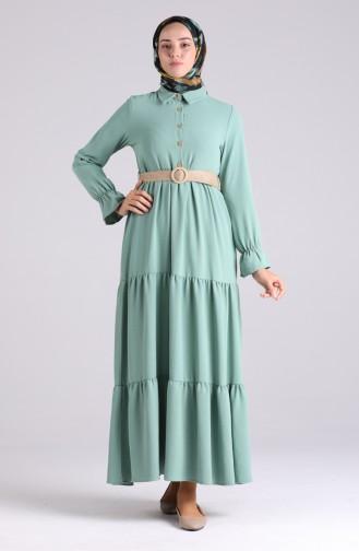 Robe Hijab Vert menthe 5483-15