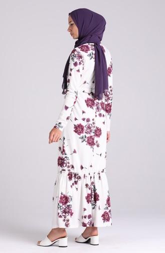 Purple İslamitische Jurk 4428-02