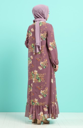 Lila Hijap Kleider 5150-02