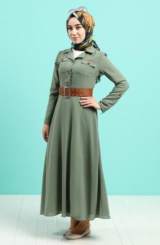 Khaki Hijap Kleider 5161-05