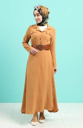Robe Hijab Moutarde 5161-06