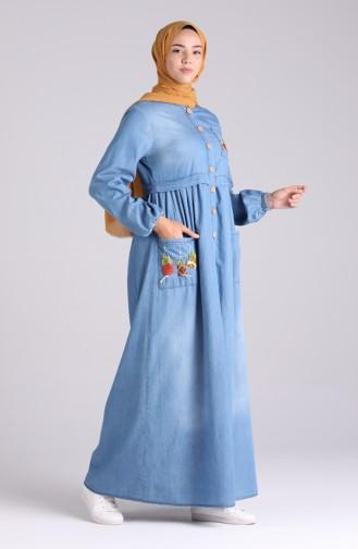 فستان أزرق جينز 8001-01