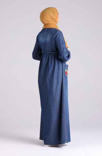 Robe Hijab Bleu Marine 8001-02