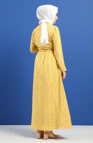 فستان أصفر خردل 8070-05