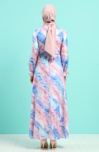 Robe Hijab Bleu 60160-01