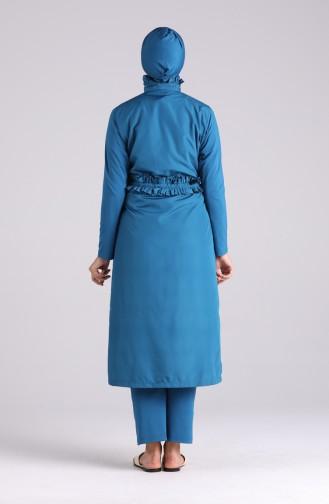 Maillot de Bain Hijab Pétrole 20147-03