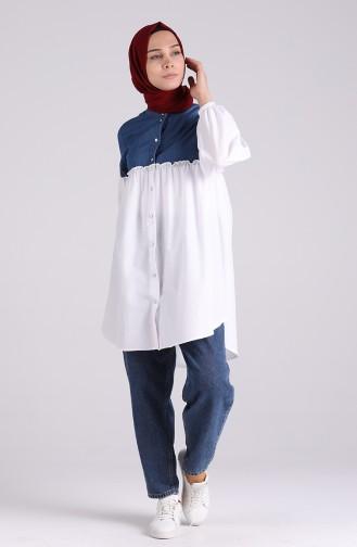 Kot Garnili Tunik 1444-01 Kot Mavi