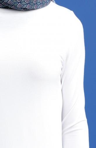 Penye Tunik 10645-05 Beyaz