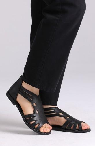 Black Summer Sandals 0008-03