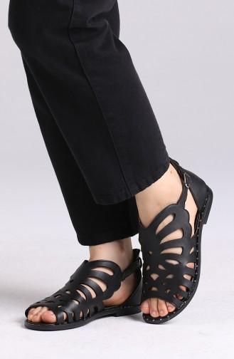 Sandales D`été Noir 0011-02