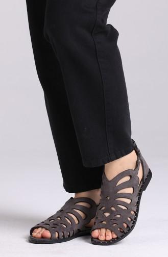 Gray Summer Sandals 0011-06