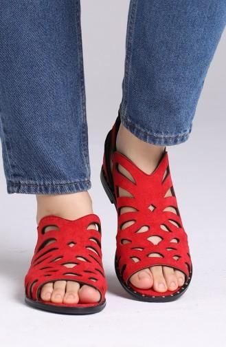 Rot Sommer Sandalen 0011-07