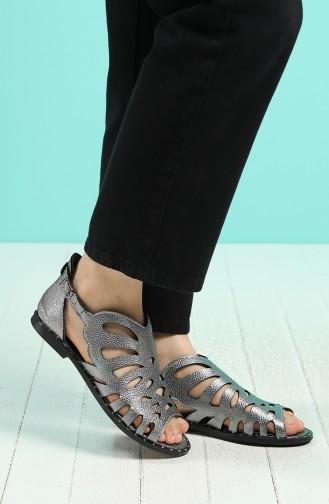 Sandales D`été Gris argenté 0011-11