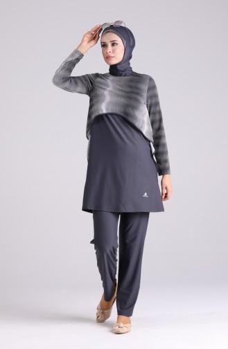 Maillot de Bain Hijab Antracite 02