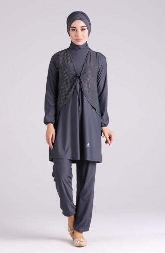 Anthracite Swimsuit Hijab 04