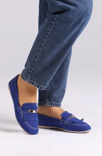 Saks-Blau Damen Ballerinas 0401-03