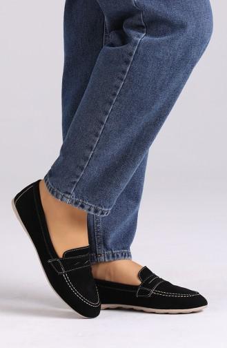 Black Woman Flat Shoe 0404-08