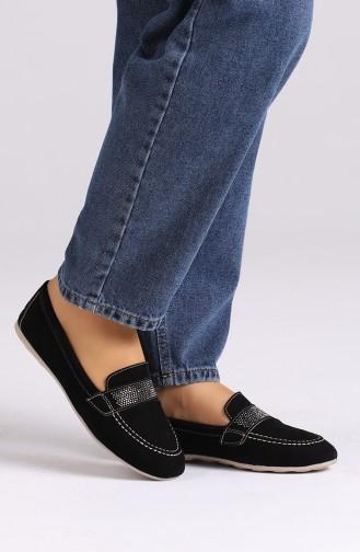 Black Woman Flat Shoe 0405-09