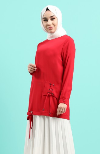 Rot Bluse 12106-04