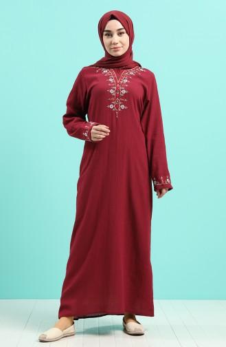 فستان أحمر كلاريت 0074-06