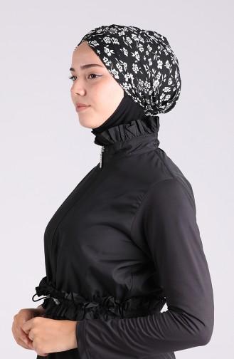 Bonnet de Bain Noir 26063-08