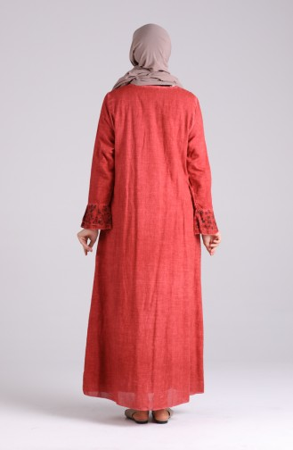 Abayas Couleur brique 4242-08