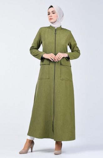 Khaki Abaya 2107-04