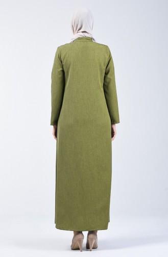 Abaya mit Reissverschluss 2107-03 Schwarz 2107-04