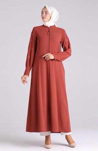Abayas Couleur brique 5103-01