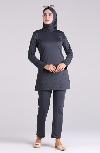 ملابس السباحة أسود فاتح 1013-02