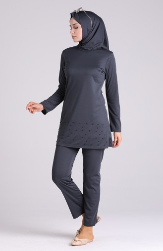 Maillot de Bain Hijab Fumé 1013-02