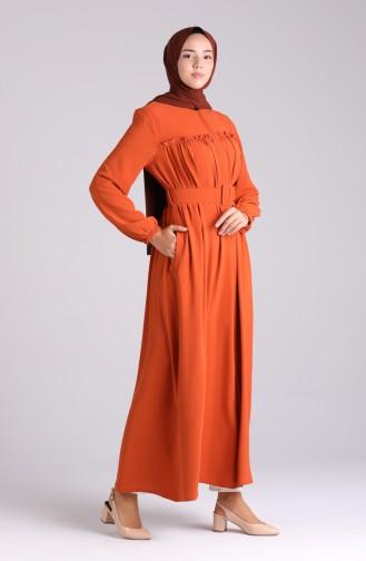 Abayas Couleur brique 6016-02
