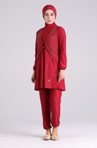 Maillot de Bain Hijab Rouge 03