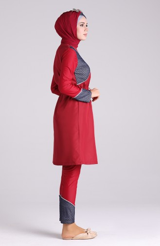 Red Swimsuit Hijab 03