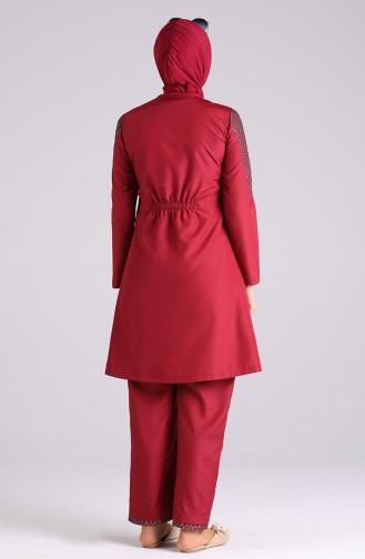 Maillot de Bain Hijab Rouge 02