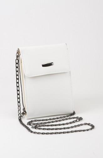 White Shoulder Bag 28-03