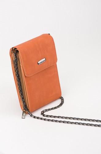 Orange Schultertasche 28-07