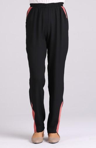 Pantalon Noir 0128-01