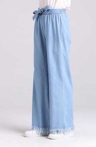 Pantalon Bleu Jean 8458-02