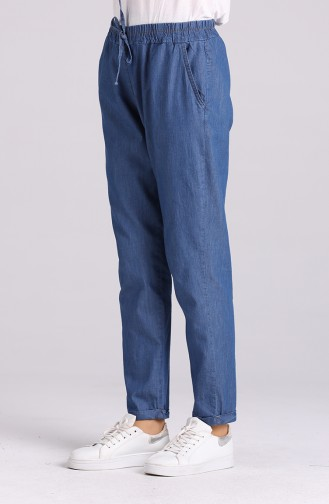 Pantalon Bleu Marine 5034-01
